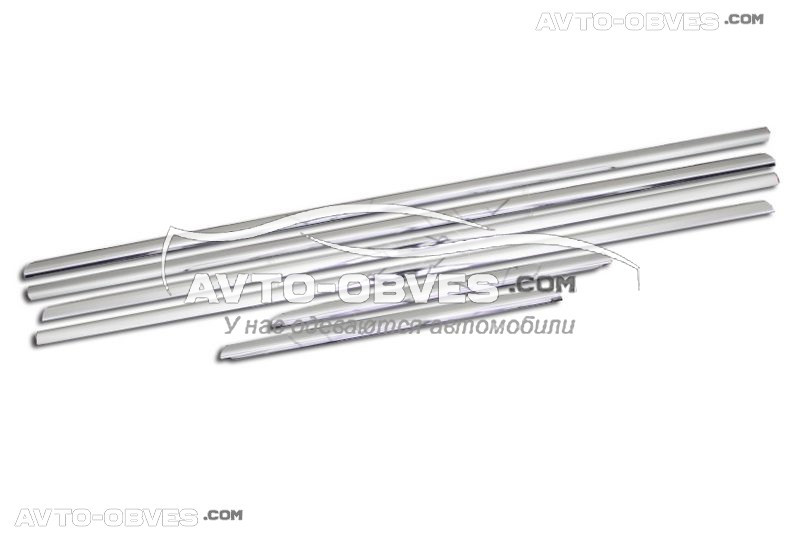 Окантовка окон Toyota Land Cruiser Prado 150 2014-2018, 6 элементов
