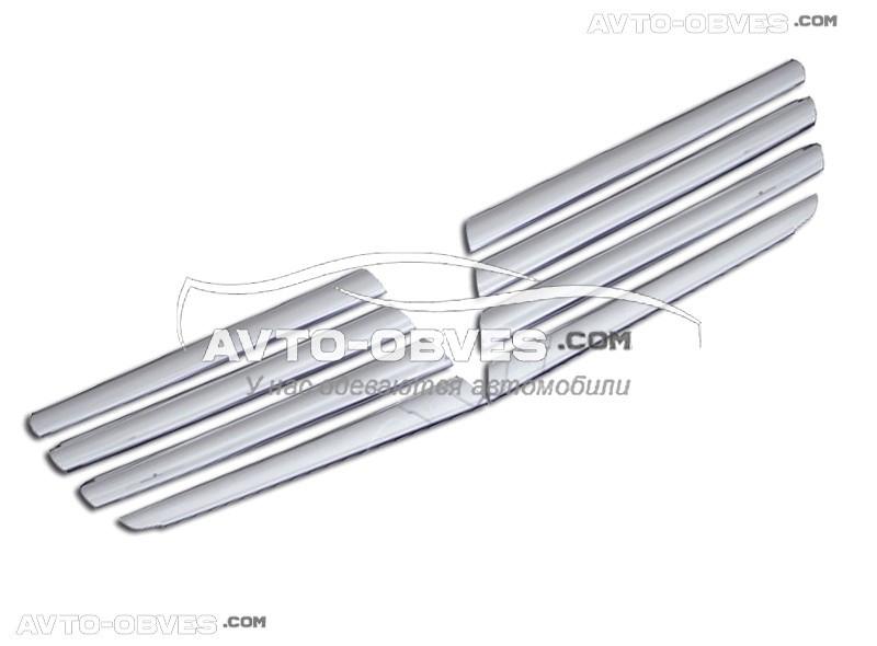 Накладки на радіаторну решітку для Volkswagen Amarok широкі, нержавіюча сталь