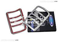 Накладки на задние фонари (стопы) VW Caddy из нержавейки, 2 шт