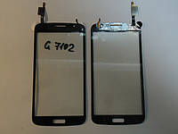Сенсор Samsung G7102 G7105 G7106 orig + самоклейка Galaxy Grand 2 Duos Black