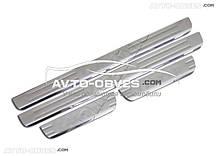 Накладки на пороги для Мітсубіші Лансер IX, нержавіюча сталь // вибір виробника