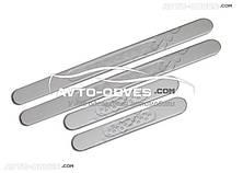Накладки на бічні пороги для Мітсубіші Лансер X, нержавіюча сталь