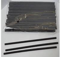 Клей силиконовый, термоклеевой стержень для пистолета, малый, черный 7 мм, 19 см.