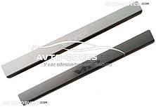 Накладки на дверні пороги салону внутрішні Мерседес Віано, нержавіюча сталь // вибір виробника
