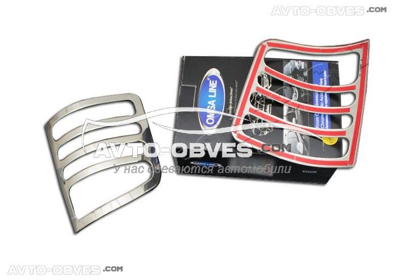 Накладки на задние фонари (стопы) VolksWagen T5 (на одно и двухдверный вариант) Carmos
