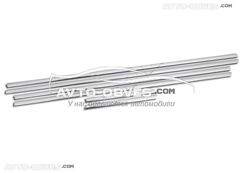 Окантовка окон внешняя Chevrolet Cruze Sedan нержавейка 6 шт нижняя
