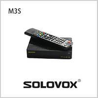 Спутниковый Ресивер, SOLOVOX, M3S, 1080 P, Full HD, ИК кабель, DVB, Поддержка Youpron, CCCAM/MGCAM/NEWCAM, Веб