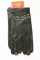 Красивые женские перчатки из плотной кожи Маленькие