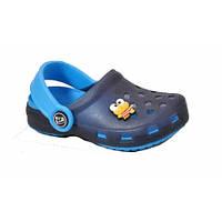 Шлепки Сабо детские Bugga синие в комплекте с джибитсами р.34