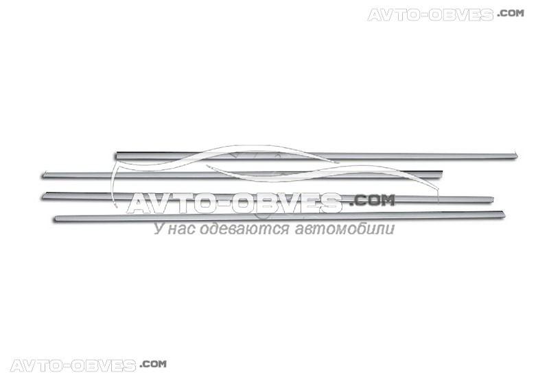 Окантовка окон VolksWagen Passat B6 2006-2011 нержавейка