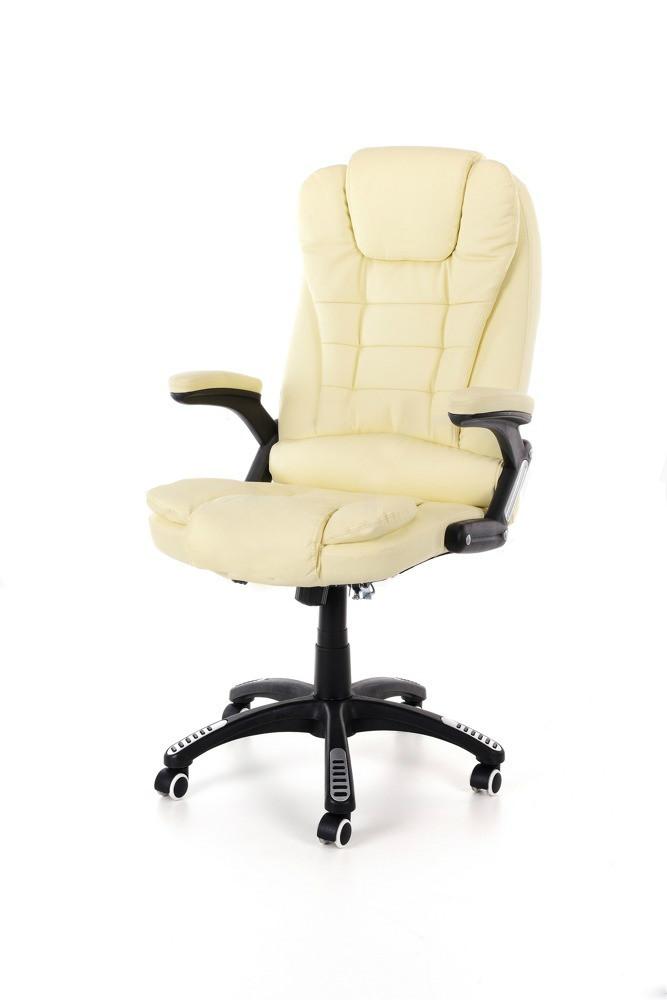 Компьютерное кожаное кресло Veroni бежевое