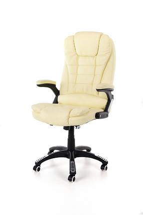 Компьютерное кожаное кресло Veroni бежевое, фото 2