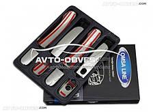 Накладки на ручки открывания дверей для Форд Куга (под чип)