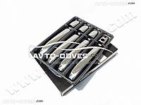 Накладки на ручки открывания дверей для Mercedes Vito / V-class 2015-..., 4 шт (под чип/ключ)