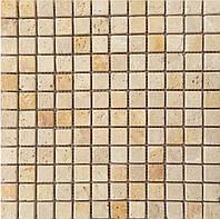 Мозаика натуральный камень Veromar молочный травертин