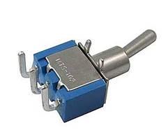 Тумблер ON-ON (2A 250VAC) MTS-102-C3 с изогнутыми выводами