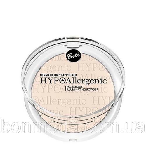 Пудра-хайлайтер для лица и тела гипоаллергенная Bell Face&Body Illuminating Powder