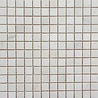 Мозаика из натурального мрамора Veromar белый травертин