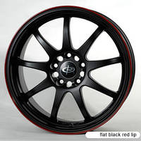 Оригинальные диски ROTA P1 Black with Red Lip (R18x8 PCD5x114.3 ET45 HUB73.1)