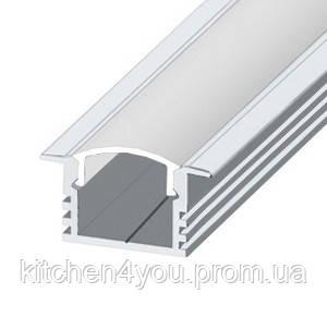 ЛПВ 12 алюминиевый профиль для светодиодной ленты, врезной 12 х 22 х 16мм. х 16 мм.