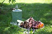Бутылка стеклянная Викинг 1,75 литра, бугель