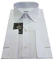 Рубашка мужская белая под запонку  №10/168 - 40-100 V1