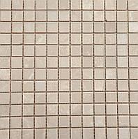 Мозаика натуральный мрамор кремовая Veromar травертин