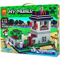 Конструктор Lele 33011 Крепость с Големом (аналог Lego Майнкрафт, Minecraft), 613 дет
