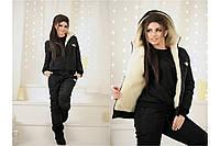 Женский спортивный костюм зимний, плащевка на синтепоне + мех, размер 42-44, 44-46