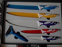 Набор ножей c керамическим покрытием 5шт+экономка