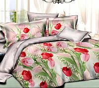 Постельное белье Романс, ранфорс 100%хлопок - семейный комплект