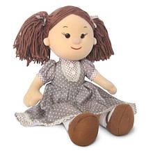 Мягкая игрушка «LAVA» (LF1145C) кукла Карина в коричневом платье в горошек, 24 см (звук. эффекты)