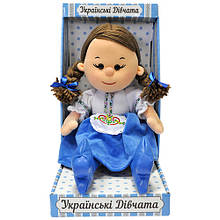 Мягкая игрушка «LAVA» (LF1240-U) кукла Калина Украинские девчата, 24 см (звук. эффекты, укр. яз., подарочная упаковка)