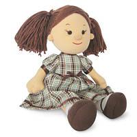 Мягкая игрушка «LAVA» (LF1145B) кукла Карина в клетчатом платье, 24 см (звук. эффекты)