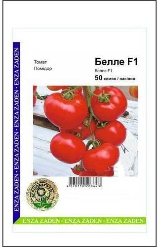 Семена томата Белле F1, 50 сем — ранний (65 дн), красный, плоско-круглый, индетерминантный, Enza Zaden