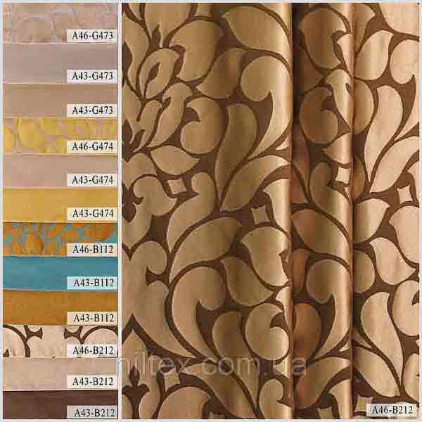 Портьерная ткань для штор. Рисунок: Фантазии на тему: цветочные принты.