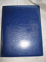 Еженедельник А4 недатированный линия, золотой торец, В 324\1 Синий