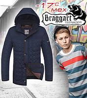 Подростковая стеганая зимняя куртка мужская