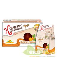 Шоколадные конфеты Курага с орехом