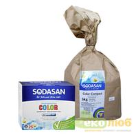 Порошок Color Compact для цветных вещей Sodasan