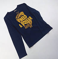 Синий реглан с яркой надписью для мальчика Tom Tailor.