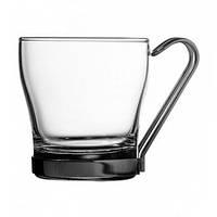 Чашка 210 мл с металлической ручкой PASABAHCE