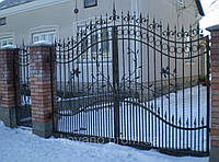 Ворота кованые Ажур, Ажур плюс