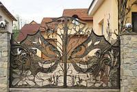 Ворота кованые  Альберт