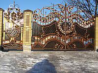 Ворота кованые  Астра