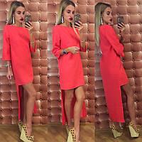 Платье каскадное габардин 274 (МГ)