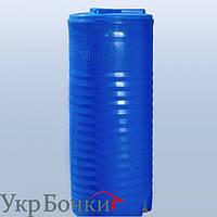 Емкость пластиковая для воды 100 литров вертикальный бак, 2 слоя