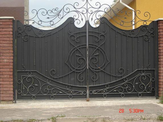 Ворота кованые Балет, Балет плюс , фото 2
