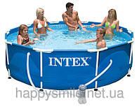 Каркасный бассейн 28202, Intex Metal Frame Pool, 305 х 76 см + фильтр-насос
