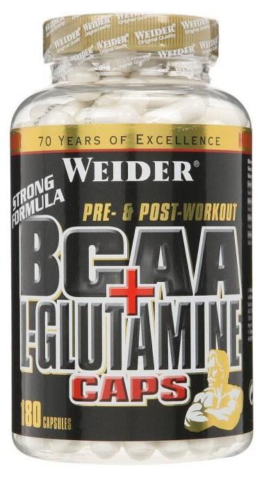 Weider BCAA+L-Glutamine 180 caps